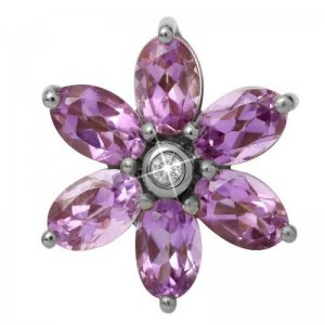 Endless Silber Big Amethyst Flower 21800