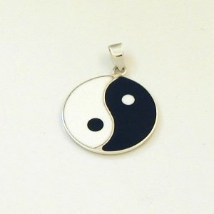 Silber Anh�nger Yin und Yang