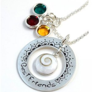 Silberkette Ornament mit Lasergravur Best Friends GONC28