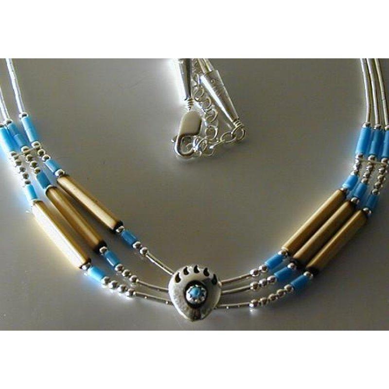 Indianerschmuck  Indianerschmuck Silber Collier ENLK3818A