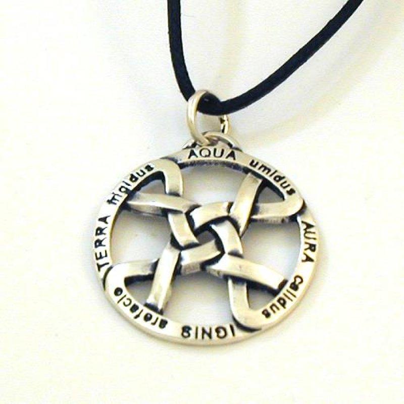 Silber anhänger  Silber Anhänger Vier Elemente Amulett