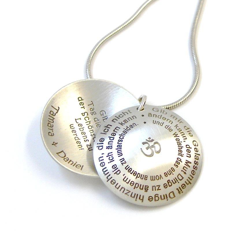 Medaillon silber  Lyrics Medaillon Silber Lasergravur